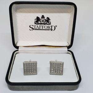 NIB Stafford Silver Cuff Links
